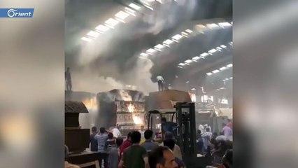 حريق ضخم يندلع بمصنع كبير بمدينة سلماس من توابع محافظة اذربايجان الغربية