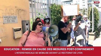 Éducation : mobilisation à Lyon devant le rectorat