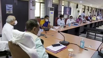 VIJAY RUPANI AND NITIN PATEL MEETING WITH EXPERT DOCTORS IN SURAT AFTER COVID-19 OUTBREAK