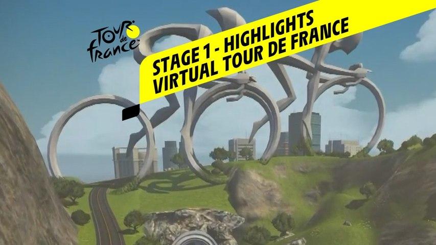 Virtual Tour de France 2020 - Stage 1 : Highlights