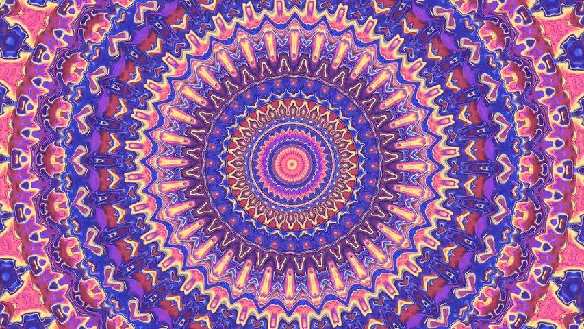Groovy Colorful Hippie Trippy Boho Mandala Animation (epilepsy warning)