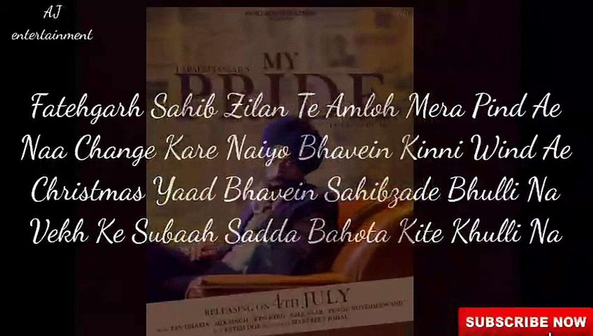 My pride (lyrics) | tarsem jassar | latest punjabi song 2020