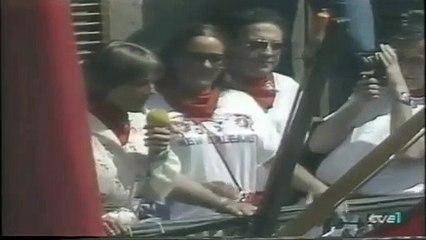 San Fermín 1981 - Elisa Chacartegui (CDS) lanza el Chupinazo de los Sanfermines