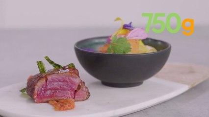 Recette du tataki de bœuf frotté au gochujang et salade croquante de kimchi - 750g
