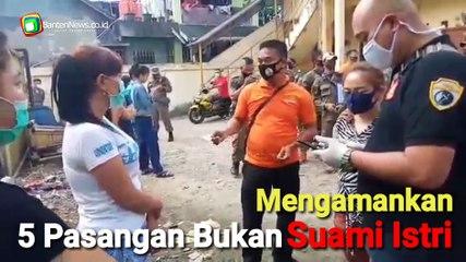 Petugas Satpol-PP Kota Tangerang Selatan Razia Kontrakan dan Indekos