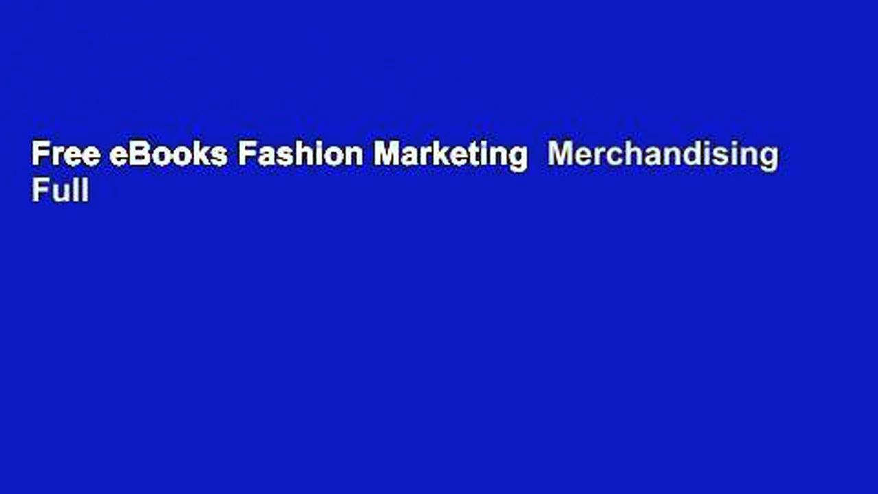 Free eBooks Fashion Marketing  Merchandising Full