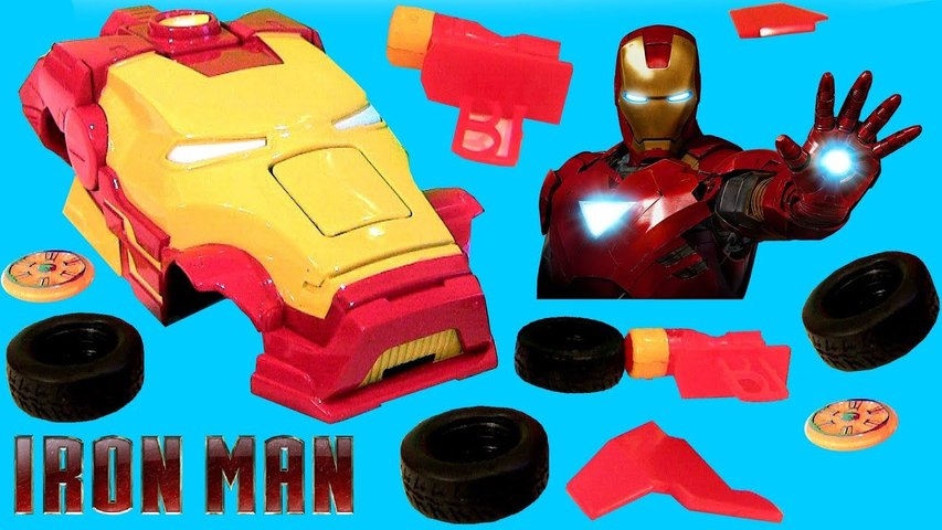 Ridemakerz IRON MAN Xtreme Custom Car Starter Kit From Disney Marvel Cars Buildable Toys Review