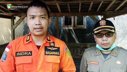 Proses Pencarian Bocah yang Tenggelam di Sungai Ciamis Pandeglang