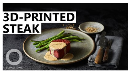 3D-Printed Steak Mimics Texture and Appearance of Real Steak