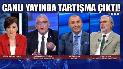 Habertürk'te çok sert tartışma: Müsavat Dervişoğlu ile Resul Tosun canlı yayında birbirine girdi!