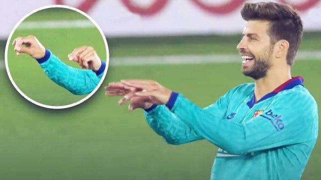 Le geste fou de Gerard Piqué pour se moquer de la VAR et du Real Madrid | Oh My Goal