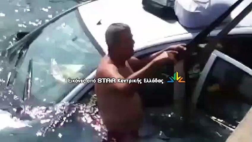 """""""Βουτιά"""" αυτοκινήτου στο Λιμάνι της Αρκίτσας -Αγωνία για δύο ηλικιωμένους"""