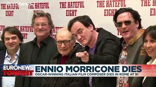 Ennio Morricone: Italian film composer, who won an Oscar for Hateful Eight, dies aged 91