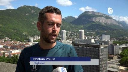 Reportage - Sur le fil ... de l'Hôtel de ville à la tour Perret avec Nathan Paulin - Reportage - TéléGrenoble