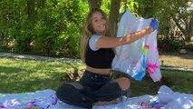 Kenzie Ziegler Creates Her Very Own Glow In The Dark Tie Dye Clothes