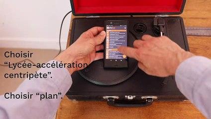 Activité expérimentale avec un smartphone - Accélération centripète