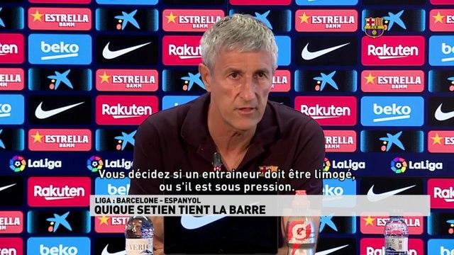 Quique Setien tient la barre du Barça