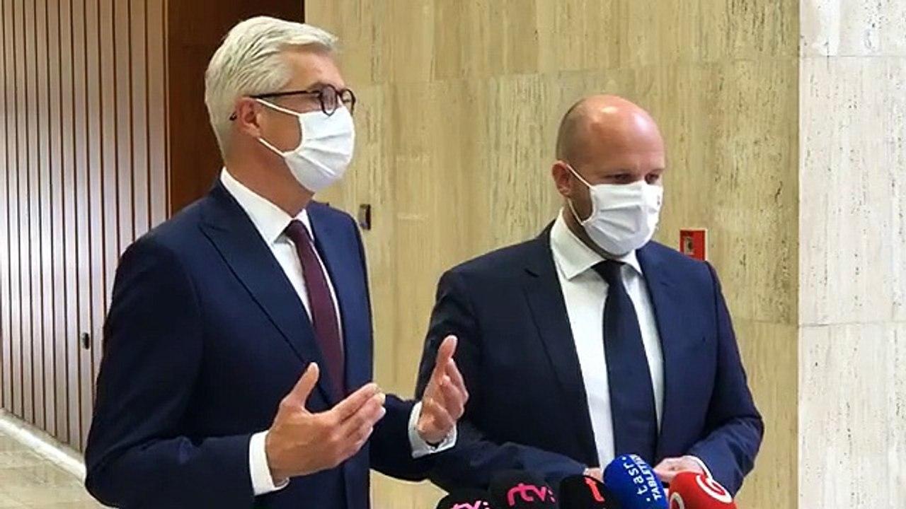 ZÁZNAM: Brífing ministra zahraničných vecí I.Korčoka a obrany J. Naďa