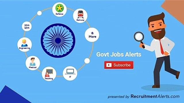 Recruitment Alerts for Govt Jobs & Sarkari Naukri in India
