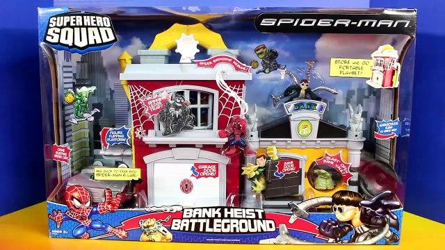 Spider-man Marvel Super Hero Squad Bank Heist Battleground Doc Ock Spiderman