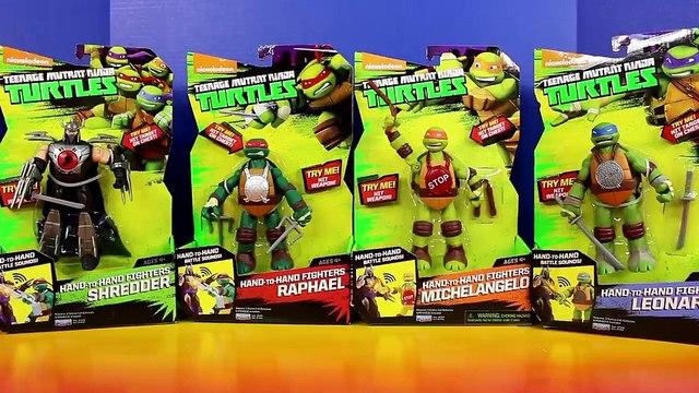 Teenage Mutant Ninja Turtles Hand To Hand Fighters TMNT Raphael Leonardo Michelangelo Shredder