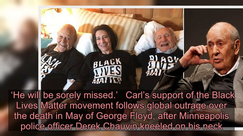 Carl Reiner supported Black Lives Matter movement in epic photo from his final days