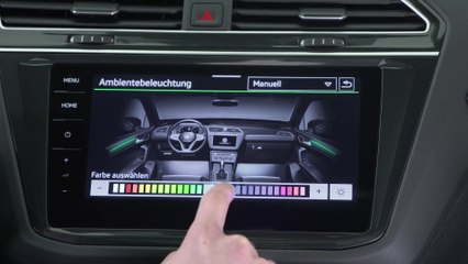 World premiere of the new Volkswagen Tiguan - Infotainment System
