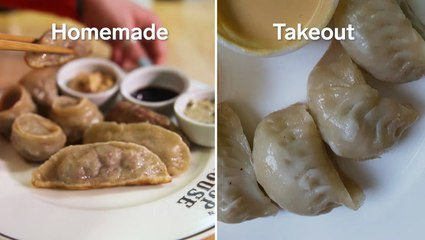 I tried to re-create my favorite New York dumplings using just what I had in my kitchen
