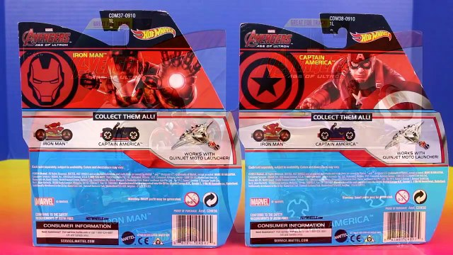 Hot Wheels Marvel Avengers Quinjet Moto Launcher Captain America Iron Man Hulk