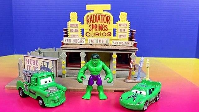 Imaginext Bane Villan Turns Bruce Into Marvel Hulk Disney Pixar Lightning McQueen Mater Hear Story
