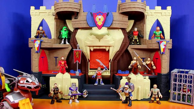 Imaginext Batman & Disney Pixar Cars Bat Car McQueen Save Robin From Castle Warrior Knights