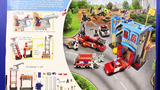 Imaginext Fire Command Center Review With Disney Pixar Rescue Squad Lightning McQueen Mater Superman