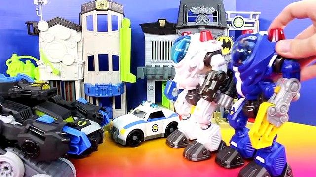 Imaginext Joker Creates Replica Batbot Robot To Destroy Gotam City Center Batman Bane Riddler