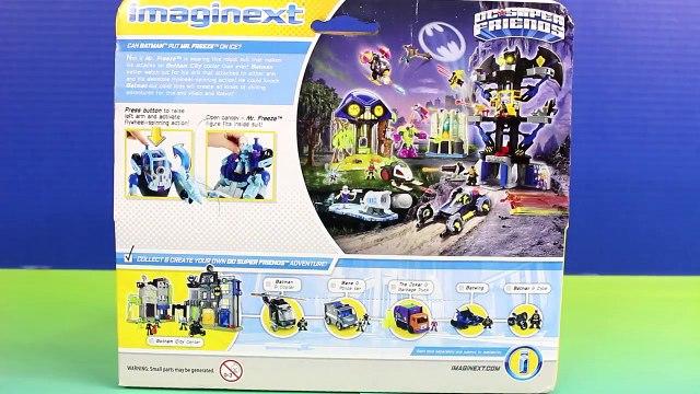 Imaginext Mr. Freeze & Robot Help Joker Bad Guys Escape From Jail Batman Robin Batbot Save The Day