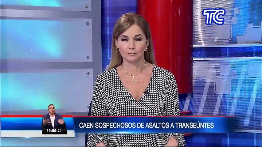 La Policía Nacional detuvo a presuntos asaltantes de transeúntes en Quito
