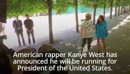 Kanye West announces he is challenging Donald Trump for US president