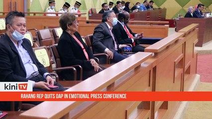 Rahang rep quits DAP in emotional press conference