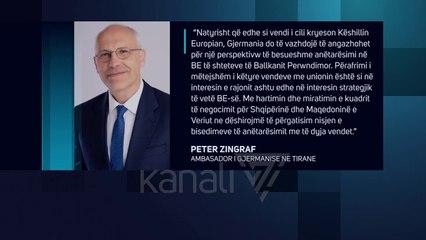 AMBASADORI GJERMAN KERKON PROGRES PARA KONFERENCES NDERQEVERITARE - News, Lajme - Kanali 7