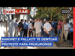 Banoret e pallatit te demtuar proteste para prokurorise   Lajme - News