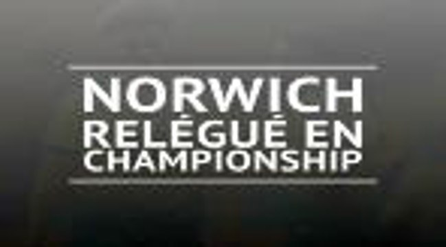 Premier League - Norwich est relégué