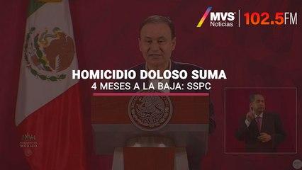 Homicidio doloso suma 4 meses a la baja: SSPC