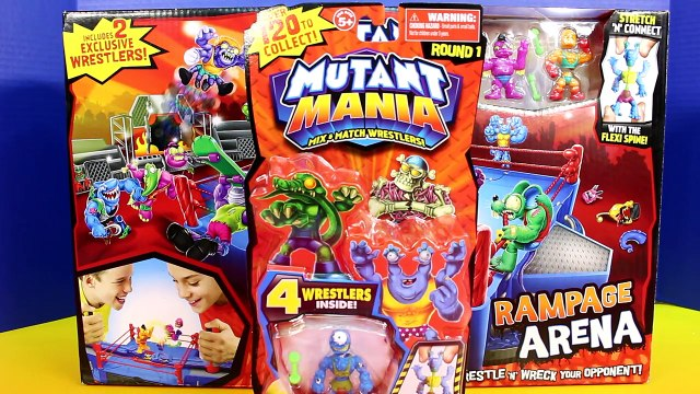 Mutant Mania Rampage Arena Mix and Match Wrestlers