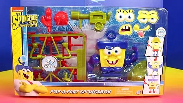 Spongebob Squarepants Sponge out of Water Pop-A-Part Spongebob & Karate Chopper Action Spongebob