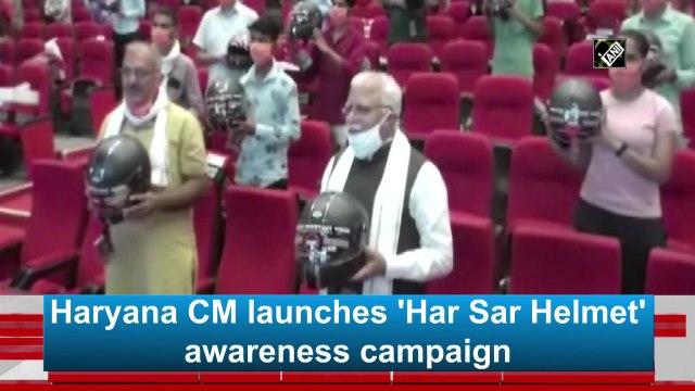 Haryana CM launches 'Har Sar Helmet' awareness campaign