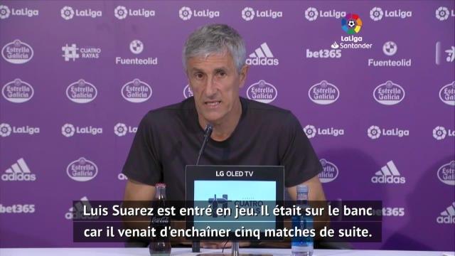 """36e j. - Setién : """"Griezmann a demandé à sortir"""""""