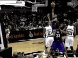 NBA BASKETBALL - Vince Carter posterized Tim Duncan