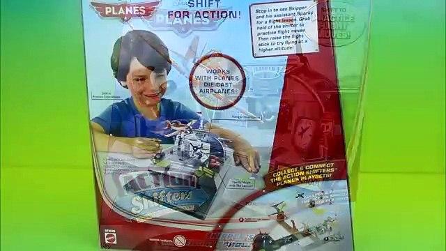 Action Shifters Disney Planes Fire and Rescue Skipper's Flight School Dusty Crophopper