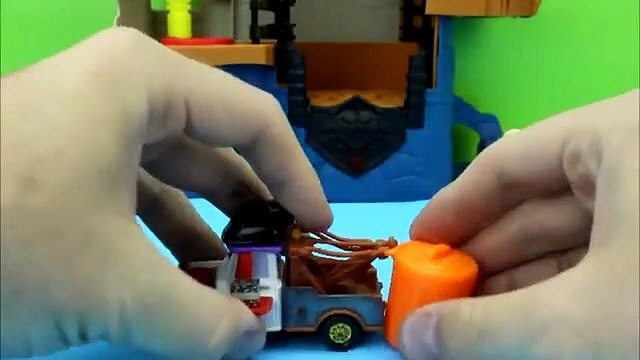 Disney Cars Pixar Karate Mater fights in Tournament Imaginext Batman Frozen toy story are in crowd