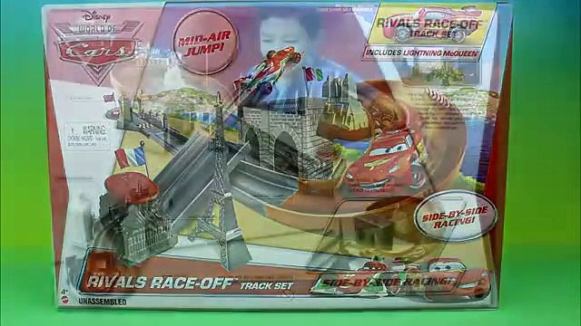 Disney Pixar Cars Rivals Race-Off Track Set Including Lightning McQueen Just4fun290