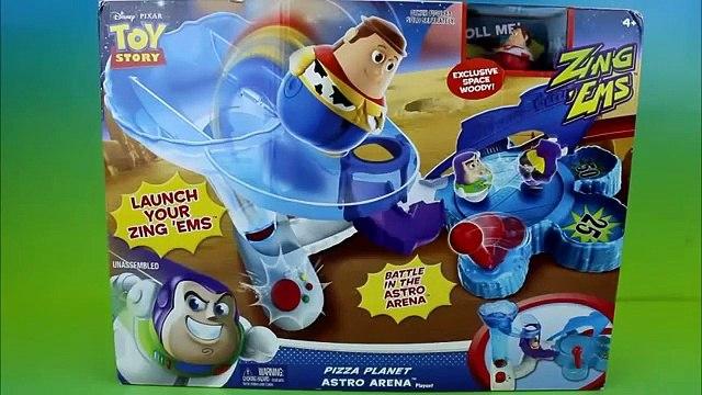 Disney Pixar Toy Story Pizza Planet Astro Arena Playset Sheriff Woody & Buzz Lightyear